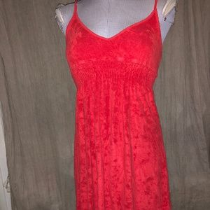 Anthropologie Ella moss Christmas Red terry cloth